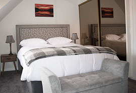 our king size double room with plenty of stotage space